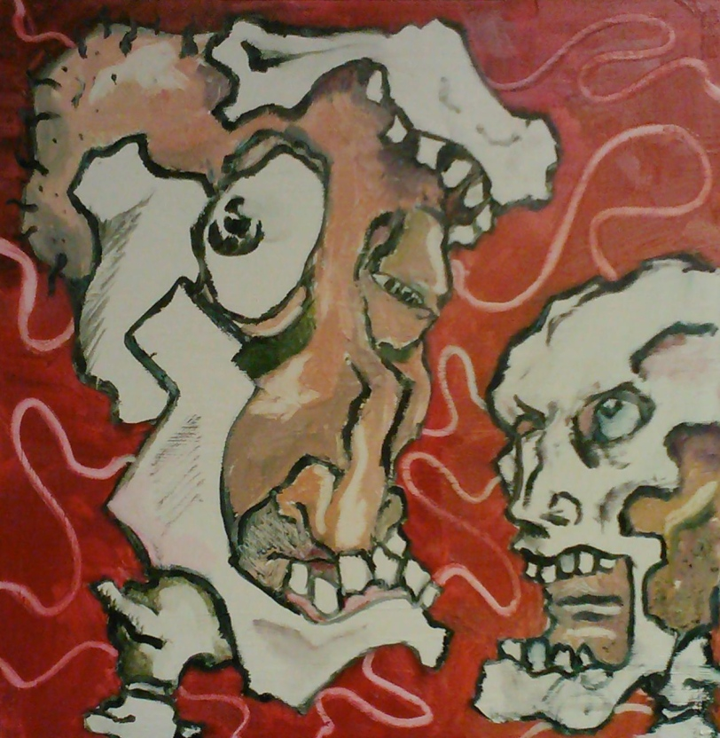 Oil Painting on Wood - 2012 by Adam Tarakhan